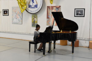 Music Division student playing piano